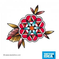 tattoo disegni fiore geometrico