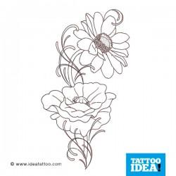 Tatto Idea fiori9 250x250 Disegni Tattoo   Fiori