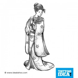 tattoo disegni classic geisha