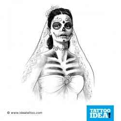 Tattoo idea Skull Woman Catrina 250x250 Disegni Tattoo   Donna teschio