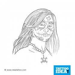 Tattoo idea Skull Woman Catrina10 250x250 Disegni Tattoo   Donna teschio