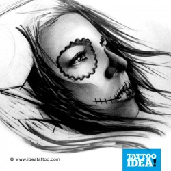 Tattoo idea Skull Woman Catrina2 250x250 Disegni Tattoo   Donna teschio