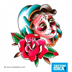 Tattoo idea Skull Woman Catrina6 250x250 Disegni Tattoo   Donna teschio