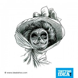 Tattoo idea Skull Woman Catrina7 250x250 Disegni Tattoo   Donna teschio