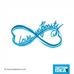 Love infinity 250x250 Disegni tattoo   Infinito