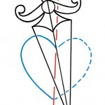 184 idea tattoo tutorial heart and dagger Morbix 5 150x150 Draw your own tattoo: Heart and dagger