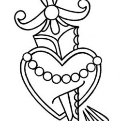 Draw your own tattoo: Heart and dagger