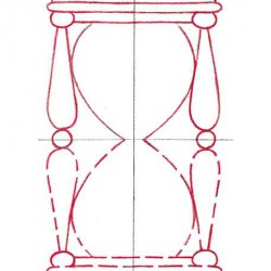 Draw a traditional style hourglass