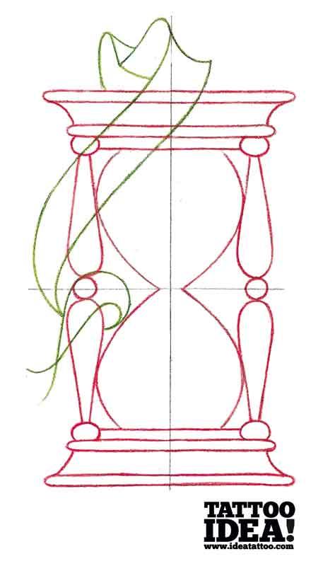 194 Idea Tattoo Tutorial Hourglass Morbix 5 150x150 Draw A Traditional Style