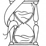 Draw a traditional style hourglass tattoo