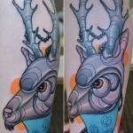 deer tattoo Piotr Gie 150x150 Tattoo Artist Gallery: Piotr Gie