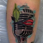 microphone tattoo Piotr Gie 150x150 Tattoo Artist Gallery: Piotr Gie