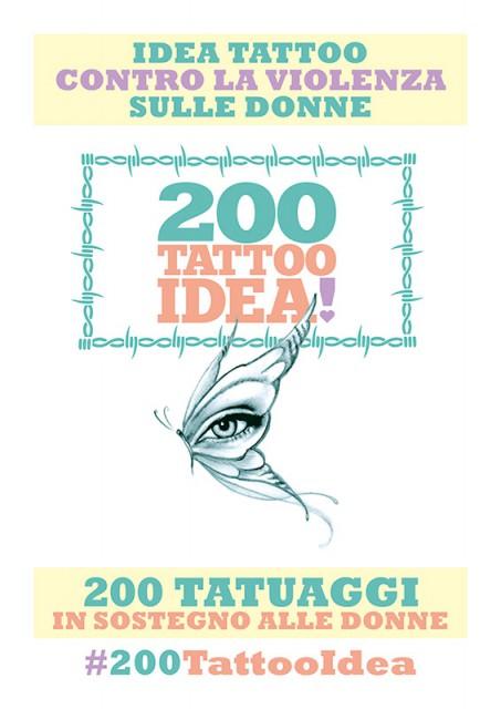#200TattooIdea contro la violenza sulle donne