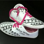 Tattooed shoes by Enzo Donniacuo, Il Cubano Tattoo