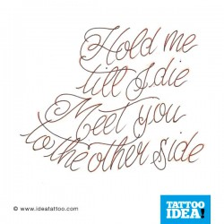 Hold me ...