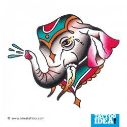 Old School Tattoo - Elefante