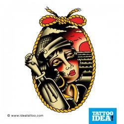 Old School Tattoo - Donna pirata
