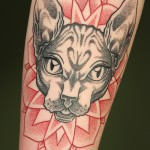 Dotwork-Sphinx-Cat -