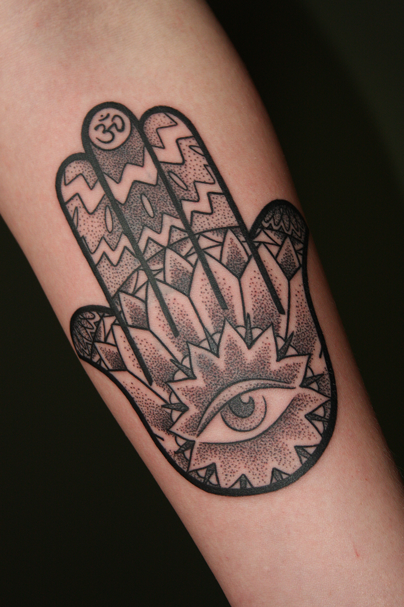 I tuoi tatuaggi 2016 for Hand of fatima tattoo