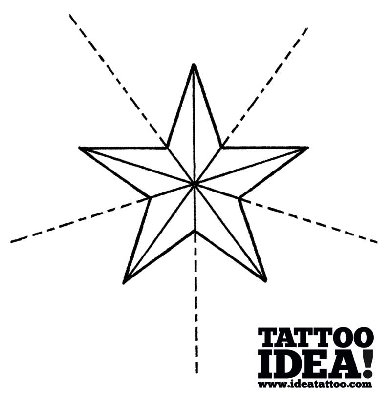 Tattoo School Draw A Nautical Star With A Ship S Helm