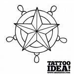 Tattoo school - disegna una Stella nautica con timone
