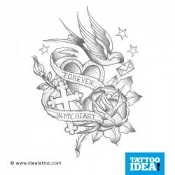 tatuaggio della rondine