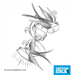 Tatto Idea rondini3 250x250 Tattoo flash   Rondini