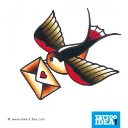 Tatto Idea rondini4 250x250 Tattoo flash   Rondini
