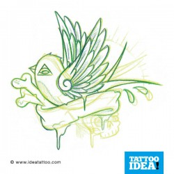 Tatto Idea rondini7 250x250 Tattoo flash   Rondini