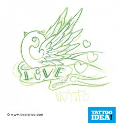 Tatto Idea rondini8 250x250 Tattoo flash   Rondini