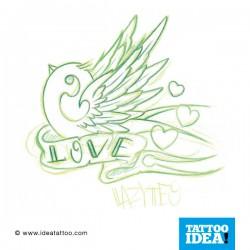 tatuaggio della Rondine dell'amore