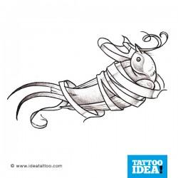 tatuaggio della rondine legata