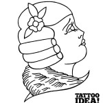 5 176 idea tattoo tutorial volto profilo Morbix 5 150x150 Draw a woman's face profile