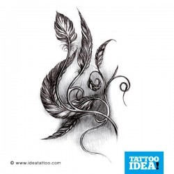 Tatto idea feather2 250x250 Disegni tattoo   Piume