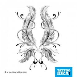 tatuaggio di due piume