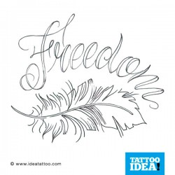Tatto idea feather8 250x250 Disegni tattoo   Piume