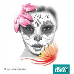 Tattoo Idea catrina skull woman10 250x250 Disegni Tattoo   La Catrina