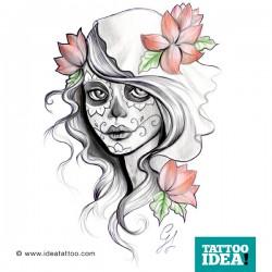 Catrina tattoo gallery disegni ideatattoo for Teschi da disegnare