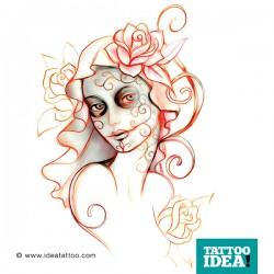Tattoo Idea catrina skull woman3 250x250 Disegni Tattoo   La Catrina