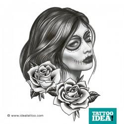 Tattoo Idea catrina skull woman4 250x250 Disegni Tattoo   La Catrina