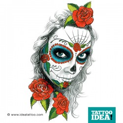 Tattoo Idea catrina skull woman5 250x250 Drawings Tattoo