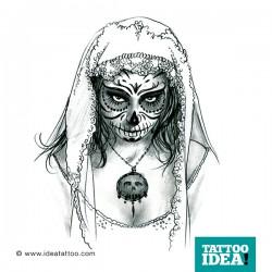 Tattoo Idea catrina skull woman6 250x250 Disegni Tattoo   La Catrina