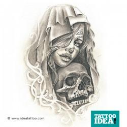 Tattoo Idea catrina skull woman7 250x250 Disegni Tattoo   La Catrina