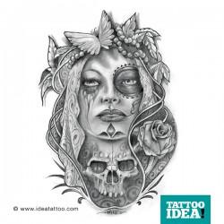 Tattoo Idea catrina skull woman8 250x250 Disegni Tattoo   La Catrina