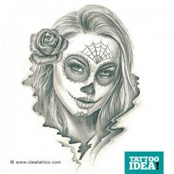 Tattoo Idea catrina skull woman9 250x250 Disegni Tattoo   La Catrina