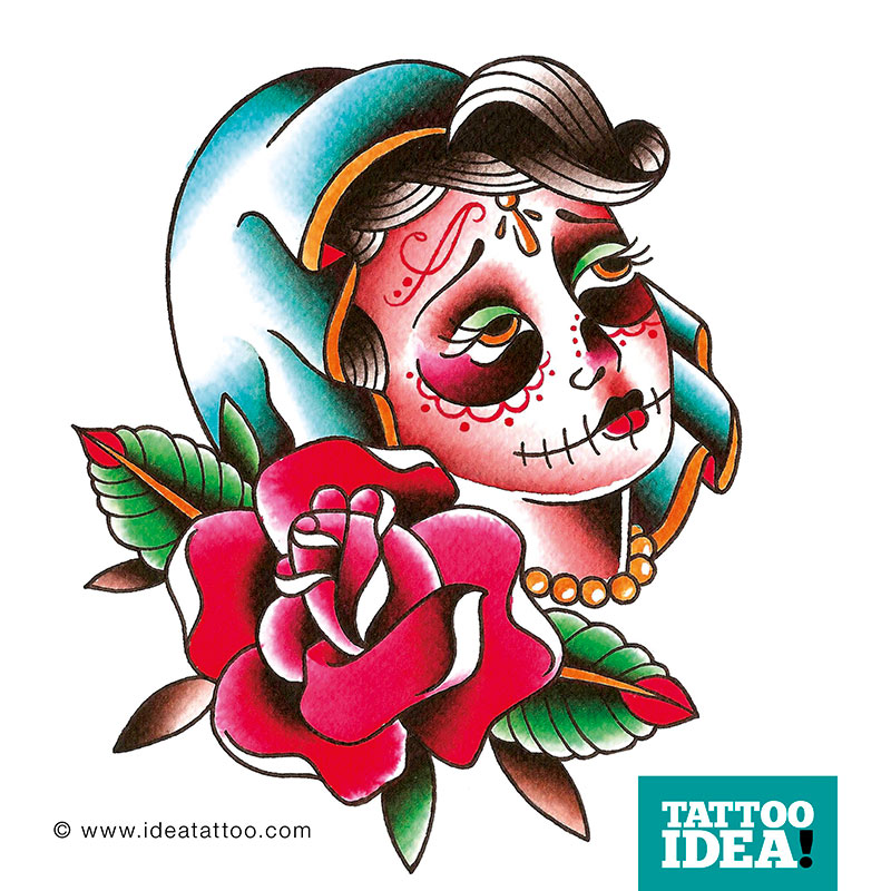 Mexican Rose Tattoo Designs