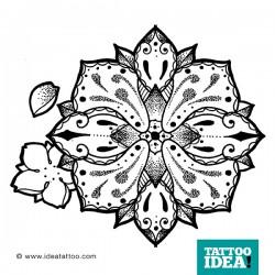 Disegno per tatuaggio Mandala dotwork