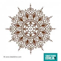 Disegno per tatuaggio Mandala floreale in stile mehndi