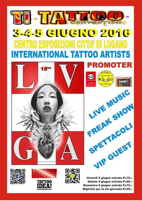 18th Ti-Tattoo Convention 3-4-5 giugno 2016