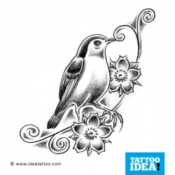 Tatto idea bird3 250x250 Disegni tattoo   Uccelli